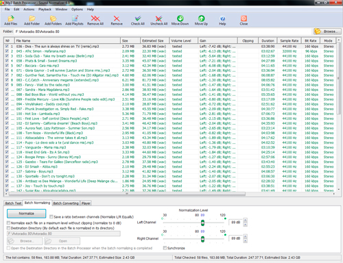 Click to view Sound Normalizer 7.9 screenshot